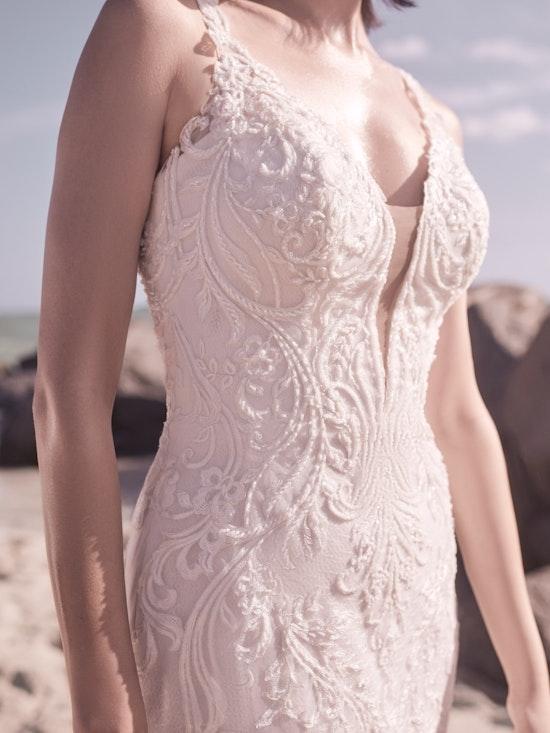 Sottero and Midgley Hamilton Lynette Elegant Plus-Size Sheath Wedding Dress 21SS355B Alt8