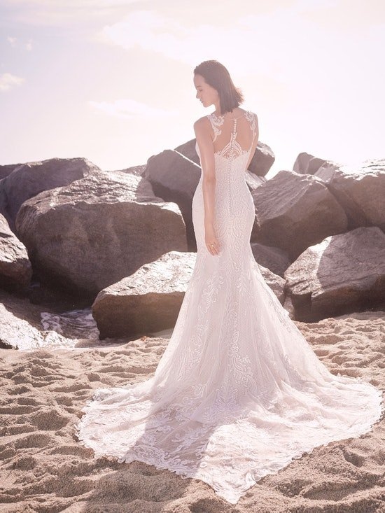 Sottero and Midgley Hamilton Lynette Elegant Plus-Size Sheath Wedding Dress 21SS355B Alt9