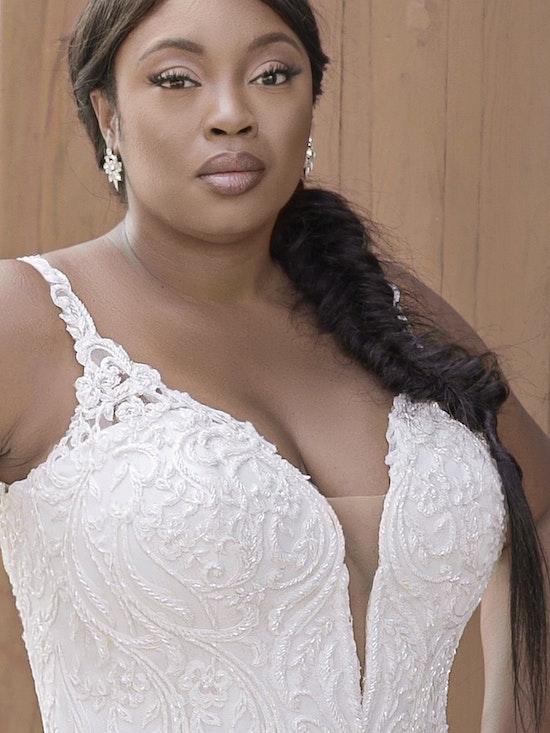 Sottero and Midgley Hamilton Lynette Elegant Plus-Size Sheath Wedding Dress 21SS355B Curve-Alt13