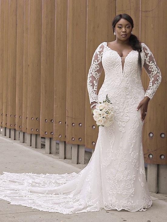 Sottero and Midgley Hamilton Lynette Elegant Plus-Size Sheath Wedding Dress 21SS355B Curve-Alt14