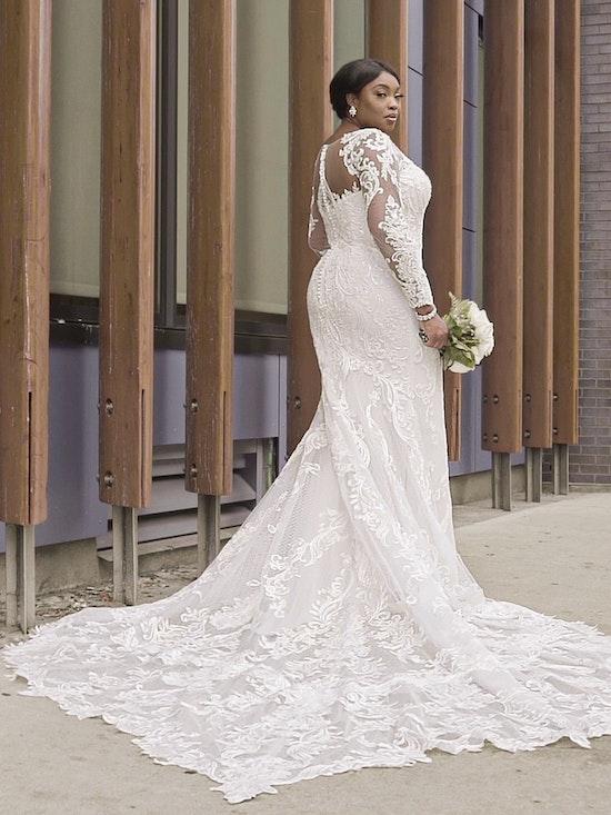 Sottero and Midgley Hamilton Lynette Elegant Plus-Size Sheath Wedding Dress 21SS355B Curve-Alt15