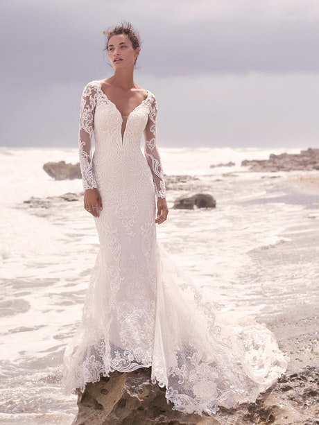 Sottero and Midgley Hamilton Lynette Elegant Plus-Size Sheath Wedding Dress 21SS355B Main