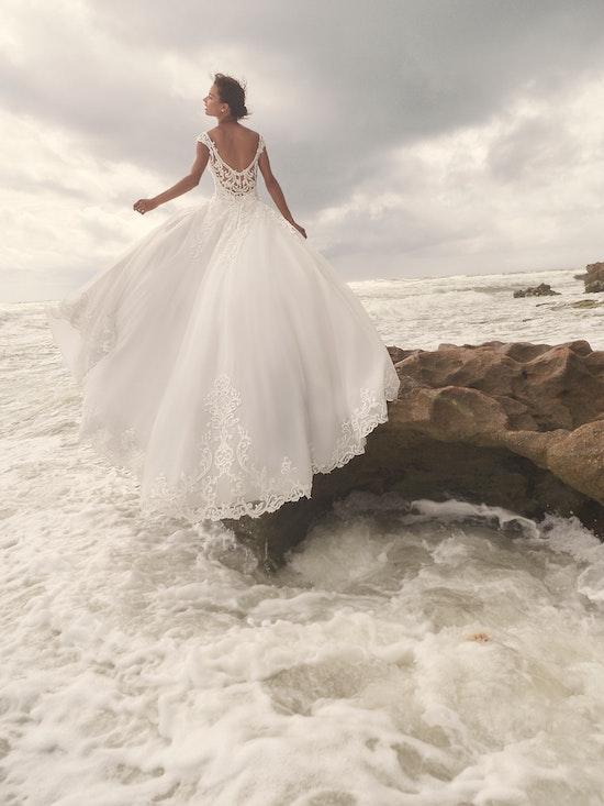 Sottero and Midgley Jada Sophisticated Sheath Wedding Dress with Detachable Overskirt 21SC405 Alt2
