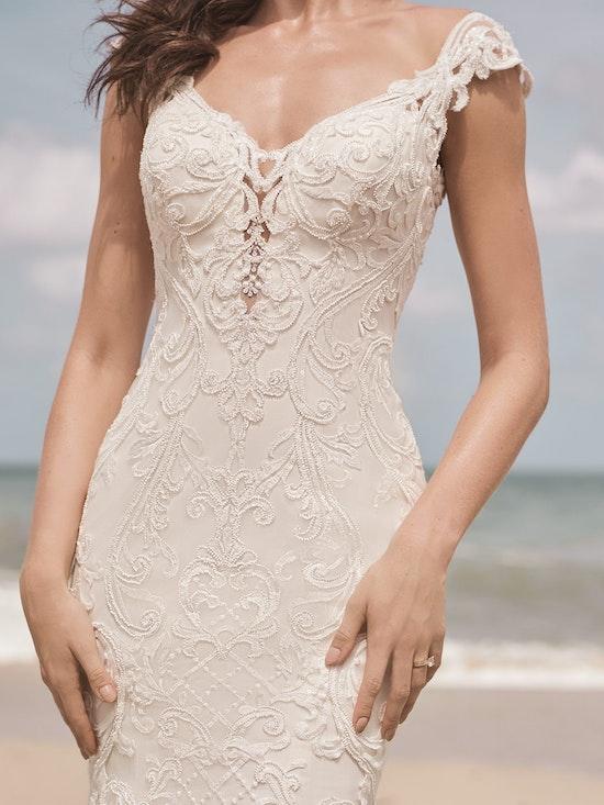 Sottero and Midgley Jada Sophisticated Sheath Wedding Dress with Detachable Overskirt 21SC405 Alt3