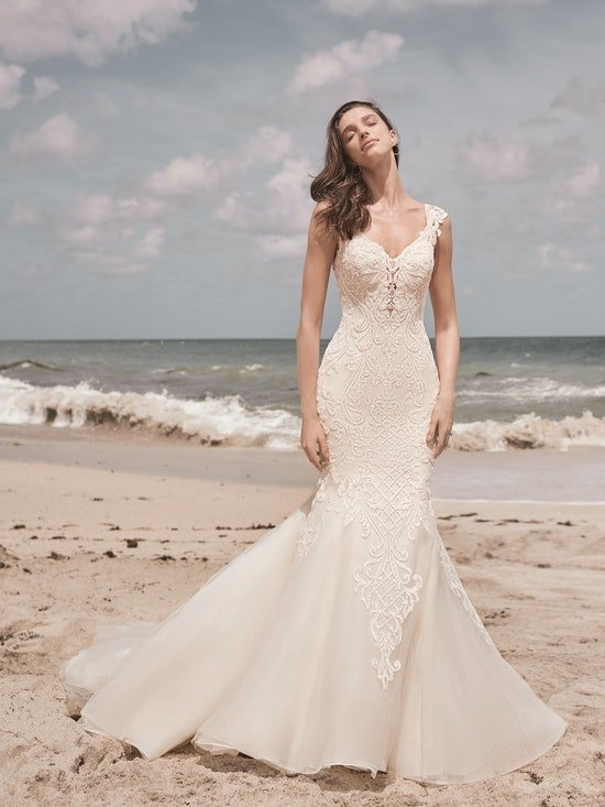Sottero and Midgley Jada Sophisticated Sheath Wedding Dress with Detachable Overskirt 21SC405 Alt4