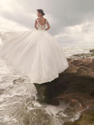 Sottero and Midgley Jada Sophisticated Sheath Wedding Dress with Detachable Overskirt 21SC405 Alt7