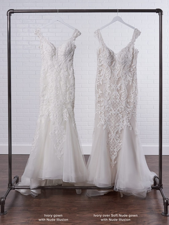 Sottero and Midgley Jada Sophisticated Sheath Wedding Dress with Detachable Overskirt 21SC405 Color3