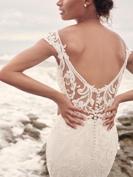 Sottero and Midgley Jada Sophisticated Sheath Wedding Dress with Detachable Overskirt 21SC405 Main