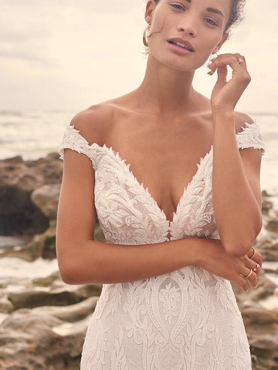Sottero and Midgley Joss Romantic Cap-Sleeve Mermaid Wedding Dress 21SC376 Alt5