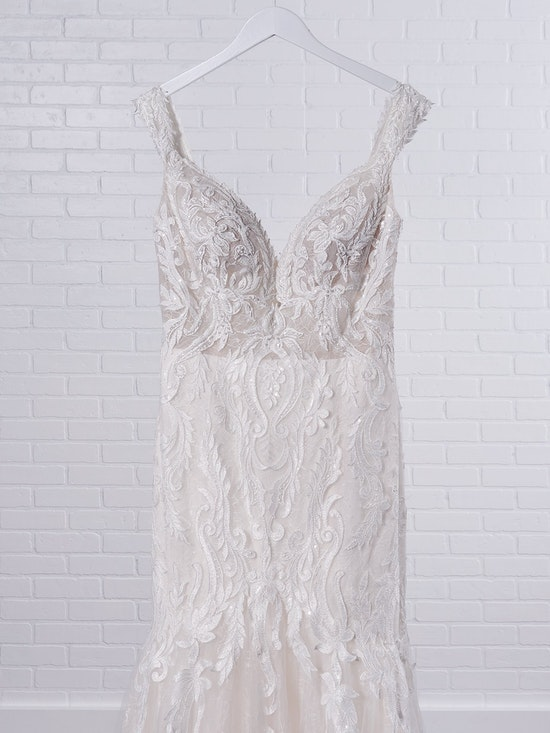 Sottero and Midgley Joss Romantic Cap-Sleeve Mermaid Wedding Dress 21SC376 Color2