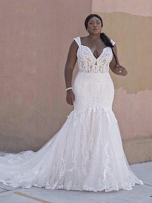 Sottero and Midgley Joss Romantic Cap-Sleeve Mermaid Wedding Dress 21SC376 Curve-Alt6