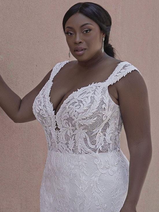 Sottero and Midgley Joss Romantic Cap-Sleeve Mermaid Wedding Dress 21SC376 Curve-Alt7