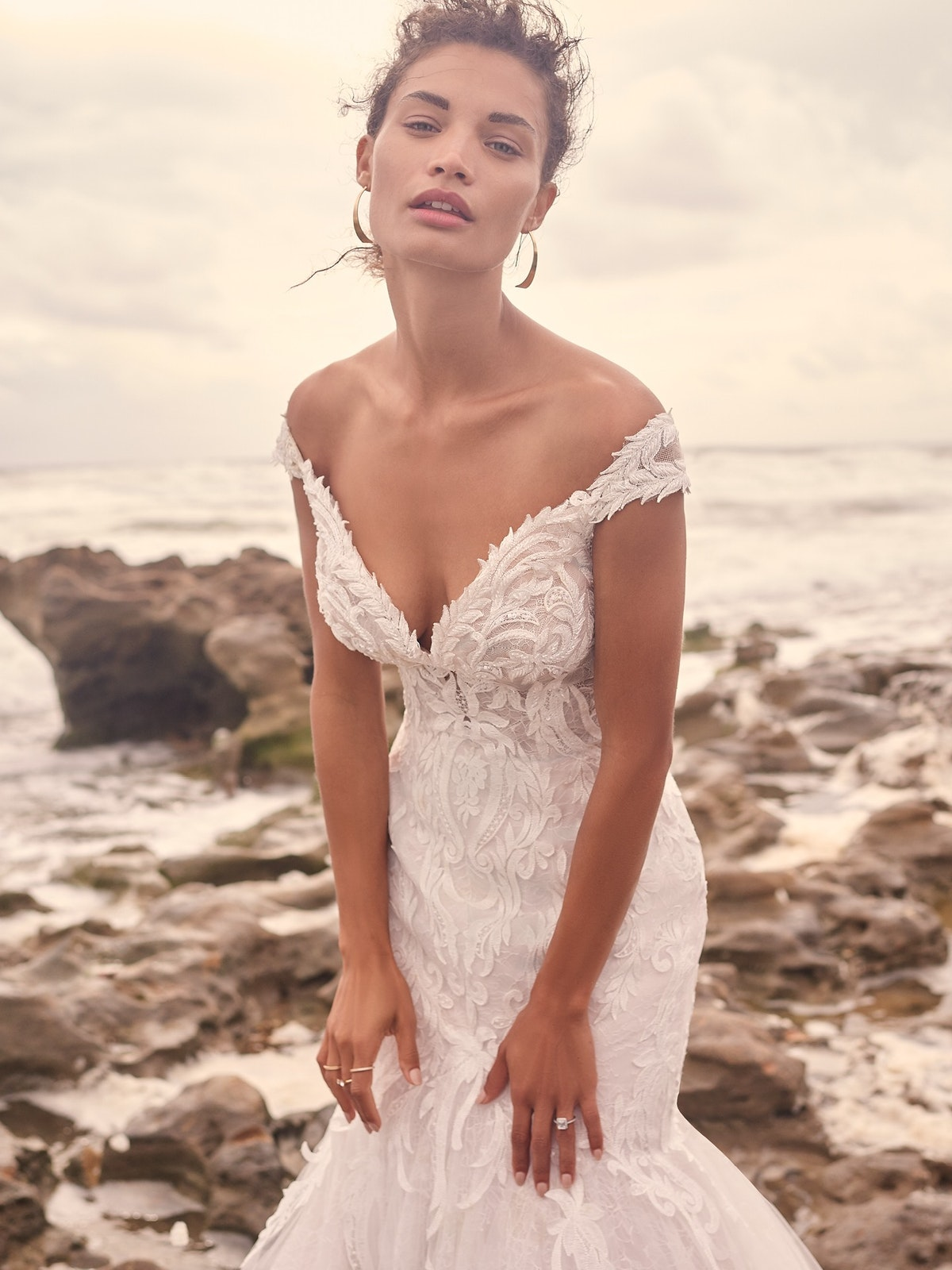 Sottero and Midgley Joss Romantic Cap-Sleeve Mermaid Wedding Dress 21SC376 Main
