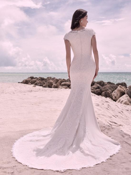 Sottero and Midgley Kevyn Leigh Modest Cap-Sleeve Vintage Wedding Dress 21SC412 Alt2