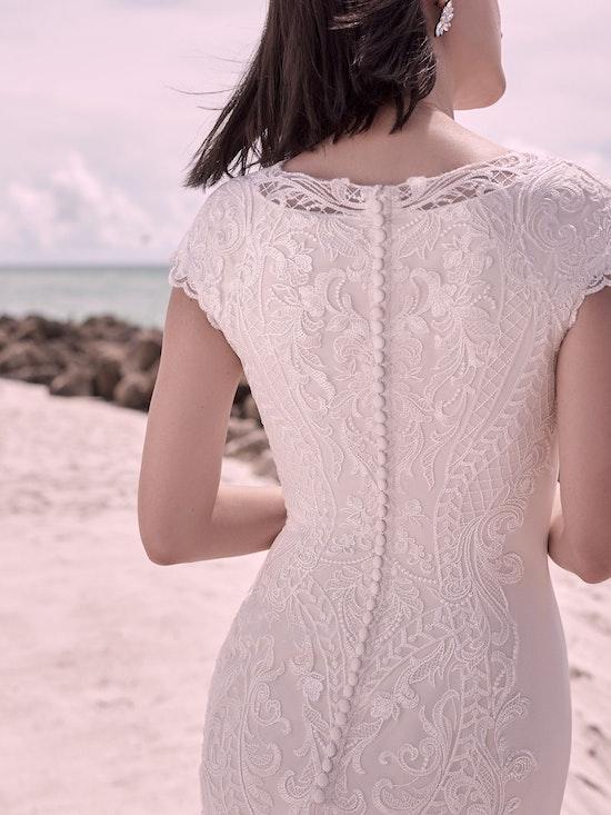 Sottero and Midgley Kevyn Leigh Modest Cap-Sleeve Vintage Wedding Dress 21SC412 Alt3