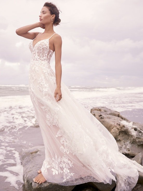 Sottero and Midgley Marlow Romantic Keyhole Back Wedding Dress  21SC429 Alt2