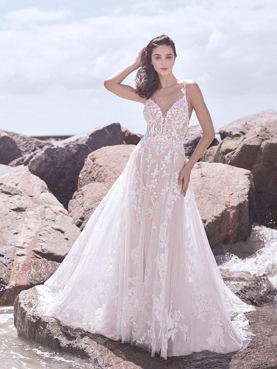Sottero and Midgley Marlow Romantic Keyhole Back Wedding Dress  21SC429 Alt4