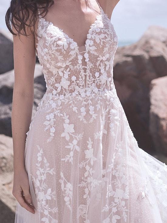 Sottero and Midgley Marlow Romantic Keyhole Back Wedding Dress  21SC429 Alt6
