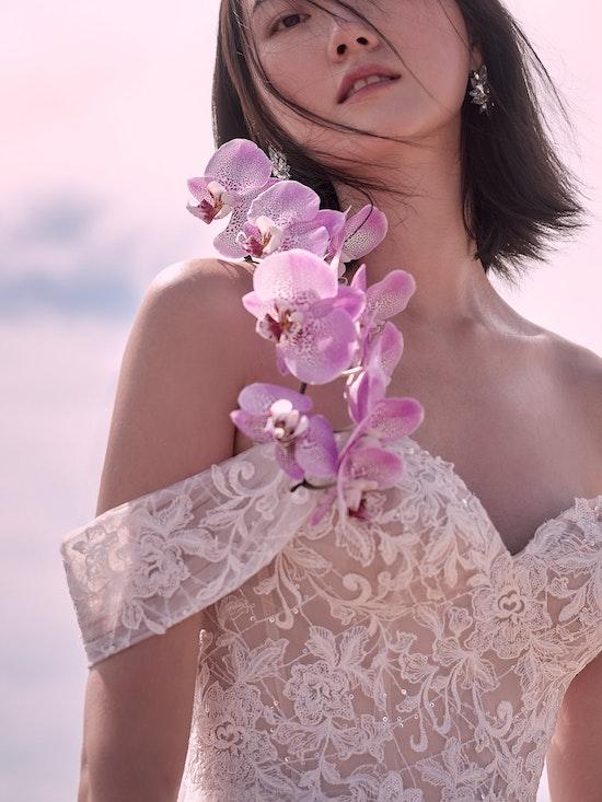 Sottero and Midgley Parker Strapless Boho Princess Wedding Dress 21SS419 Alt1