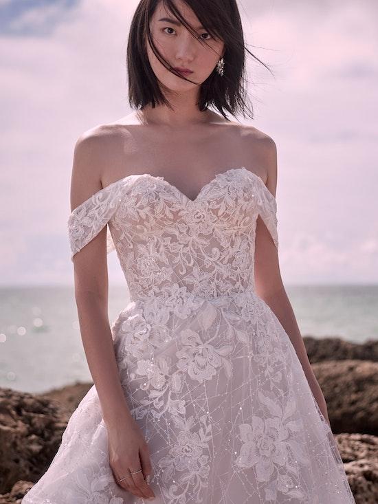 Sottero and Midgley Parker Strapless Boho Princess Wedding Dress 21SS419 Alt2