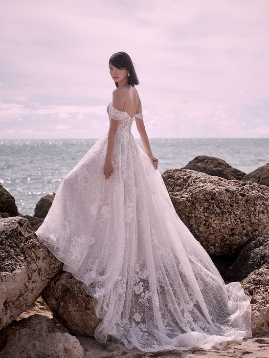 Sottero and Midgley Parker Strapless Boho Princess Wedding Dress 21SS419 Alt3