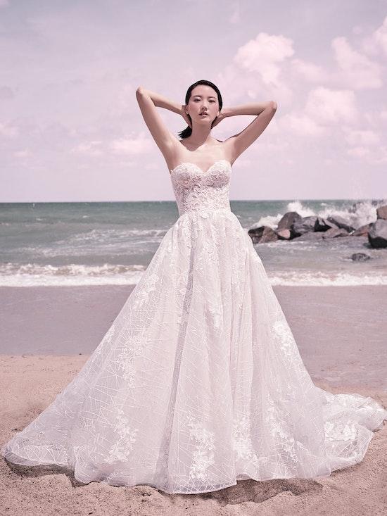Sottero and Midgley Parker Strapless Boho Princess Wedding Dress 21SS419 Alt4