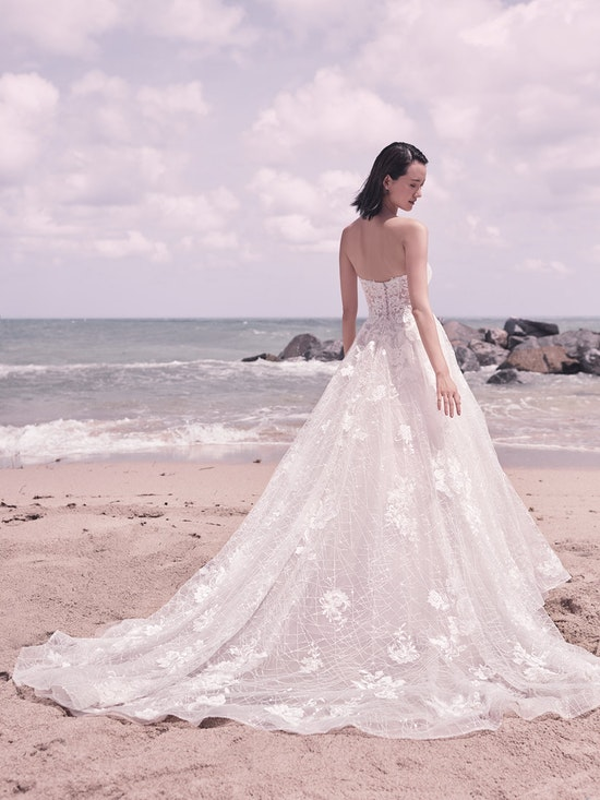 Sottero and Midgley Parker Strapless Boho Princess Wedding Dress 21SS419 Alt6