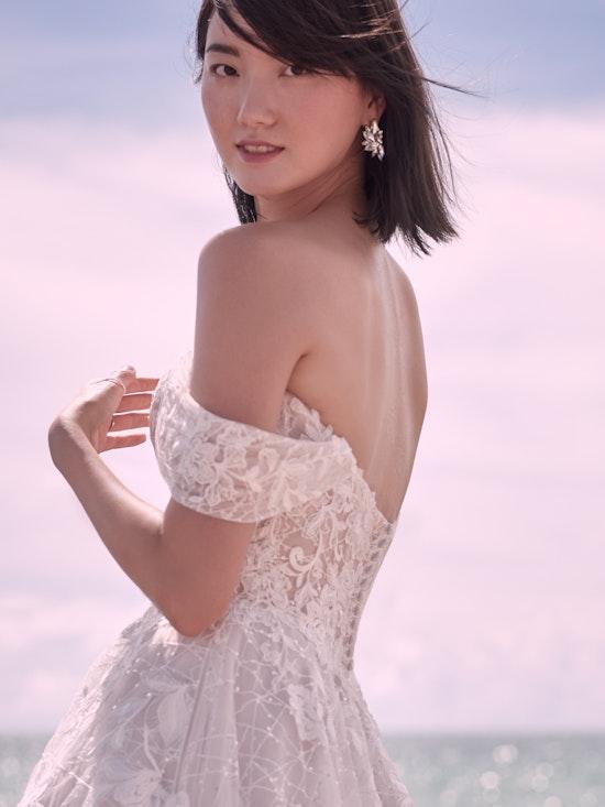 Sottero and Midgley Parker Strapless Boho Princess Wedding Dress 21SS419 Alt7