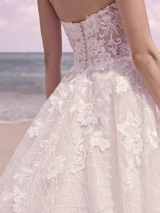 Sottero and Midgley Parker Strapless Boho Princess Wedding Dress 21SS419 Alt8