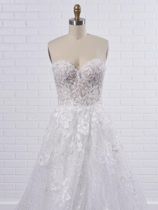 Sottero and Midgley Parker Strapless Boho Princess Wedding Dress 21SS419 Color1