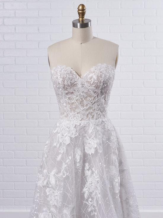 Sottero and Midgley Parker Strapless Boho Princess Wedding Dress 21SS419 Color2