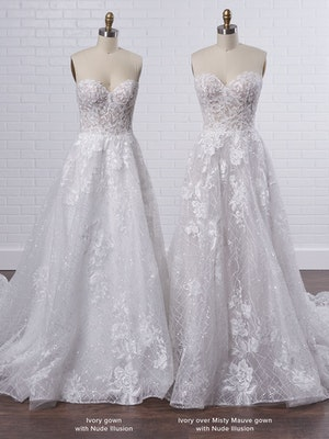 Sottero and Midgley Parker Strapless Boho Princess Wedding Dress 21SS419 Color3