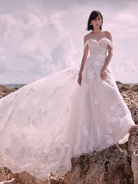 Sottero and Midgley Parker Strapless Boho Princess Wedding Dress 21SS419 Main
