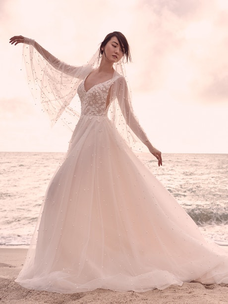 Sottero and Midgley Pierce Princess Pearl Tulle A-line Wedding Dress  21SV396 Alt5