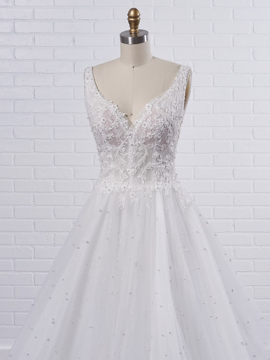 Sottero and Midgley Pierce Princess Pearl Tulle A-line Wedding Dress  21SV396 Color1