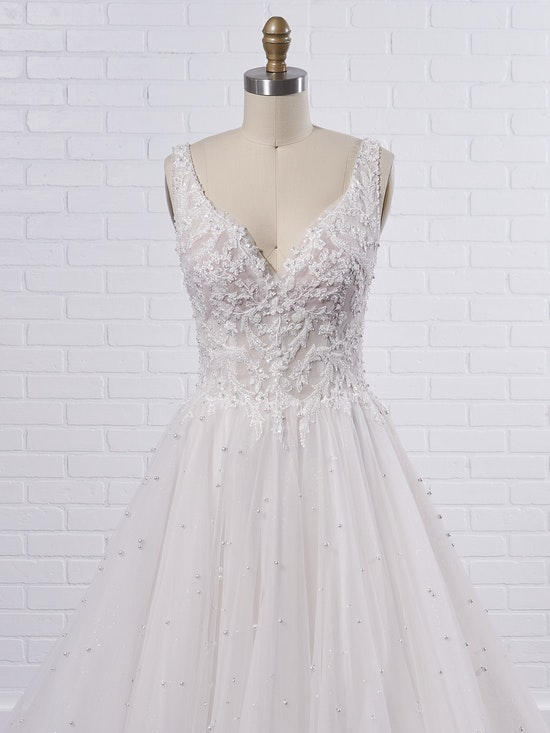 Sottero and Midgley Pierce Princess Pearl Tulle A-line Wedding Dress  21SV396 Color2