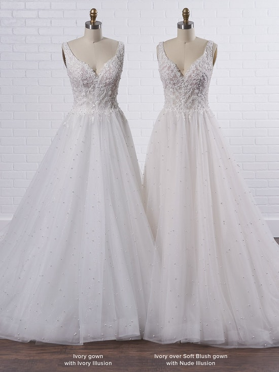 Sottero and Midgley Pierce Princess Pearl Tulle A-line Wedding Dress  21SV396 Color3