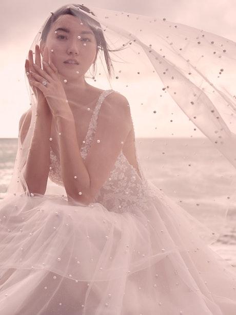 Sottero and Midgley Pierce Princess Pearl Tulle A-line Wedding Dress  21SV396 Main