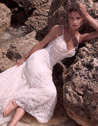 Sottero and Midgley Presley Unique Sparkly Lace A-line Wedding Gown 21SC406 Main