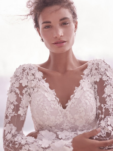 Sottero and Midgley Reeve 3-D Floral Lace Ball Gown Wedding Dress 21SC430 Alt4