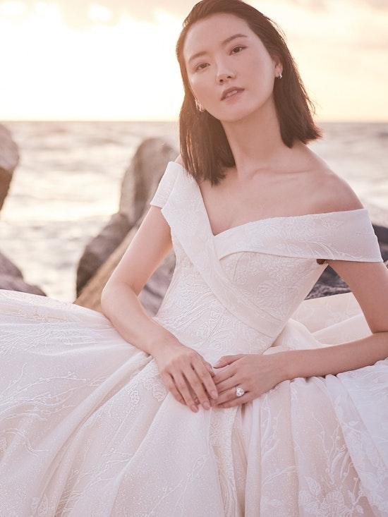 Sottero and Midgley Thomas Off-the-Shoulder Ball Gown Wedding Dress with Portrait Neckline 21SZ372 Alt2