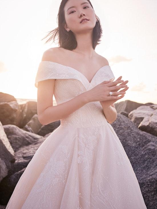Sottero and Midgley Thomas Off-the-Shoulder Ball Gown Wedding Dress with Portrait Neckline 21SZ372 Alt4