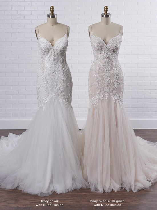 Maggie Sottero Halle Curve-hugging beaded lace mermaid wedding gown with side cut outs 21MC385 Color3