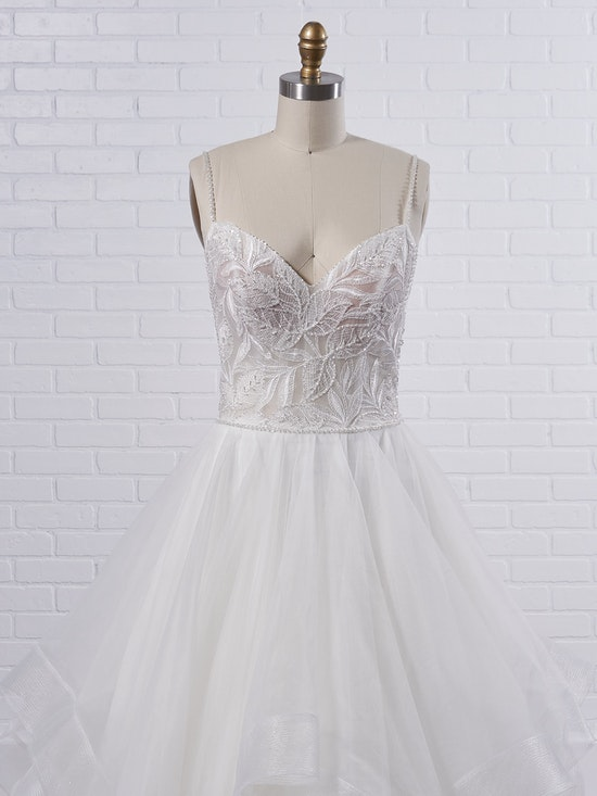 Maggie Sottero Timbrey Unique tiered ball gown wedding dress for unabashedly feminine vibes 21MC391 Color1