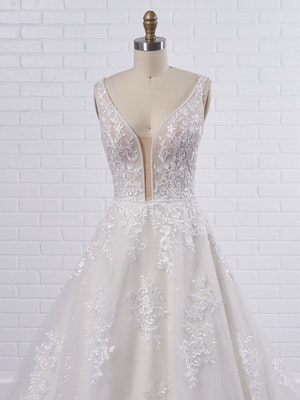 Maggie Sottero Leticia Romantic A-line bridal gown with a soft and feminine skirt 21MK394 Color2