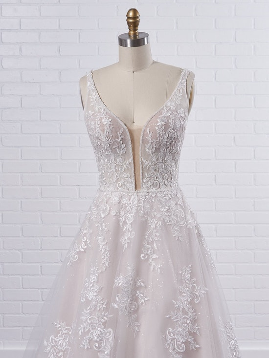 Maggie Sottero Leticia Romantic A-line bridal gown with a soft and feminine skirt 21MK394 Color3