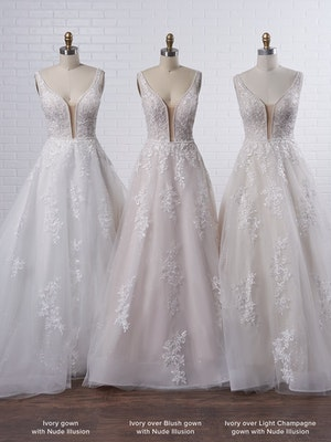 Maggie Sottero Leticia Lynette Plus Size Romantic A-line bridal gown with a soft and feminine skirt 21MK394B Color4