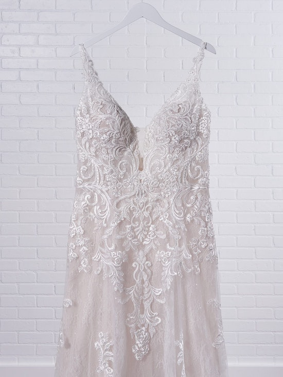 Maggie Sottero Johanna Illusion lace sleeve A-line wedding gown inspired by modern royalty 21MS349 Color2