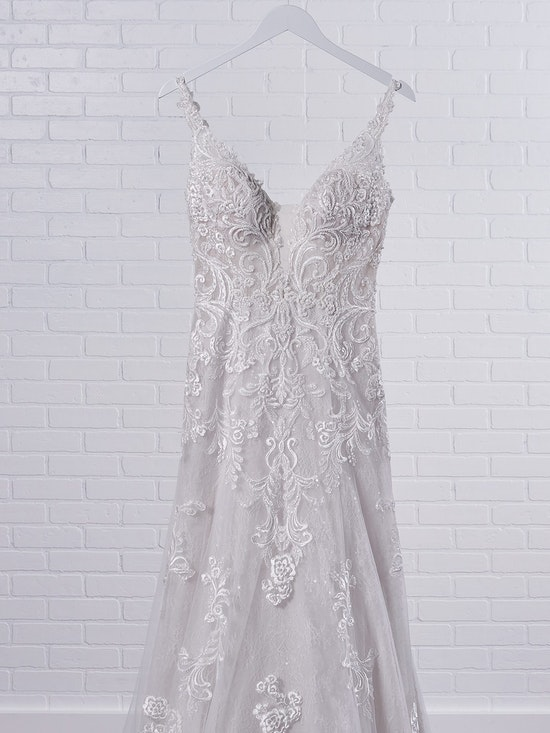 Maggie Sottero Johanna Illusion lace sleeve A-line wedding gown inspired by modern royalty 21MS349 Color3