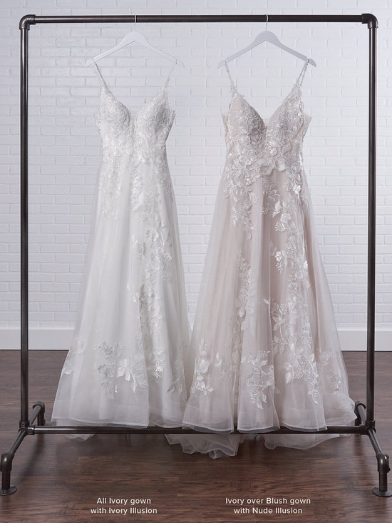 Rebecca Ingram Ellen Nature-inspired ball gown wedding dress in sparkly tulle layers 21RC393 Color3